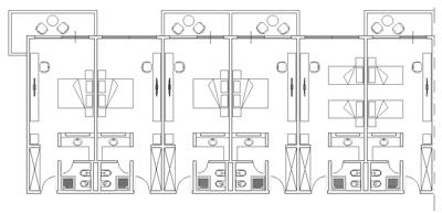 hotel schemi di progetto autocad dwg
