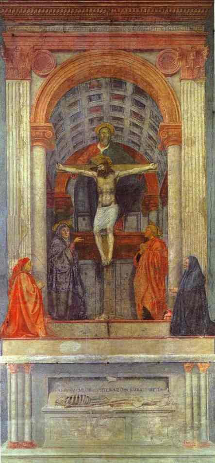 holy trinity by masaccio essay Read this full essay on trinity  so to start explaining the meaning of the trinity  we believe in god the father almighty  the holy trinity: masaccio essay.