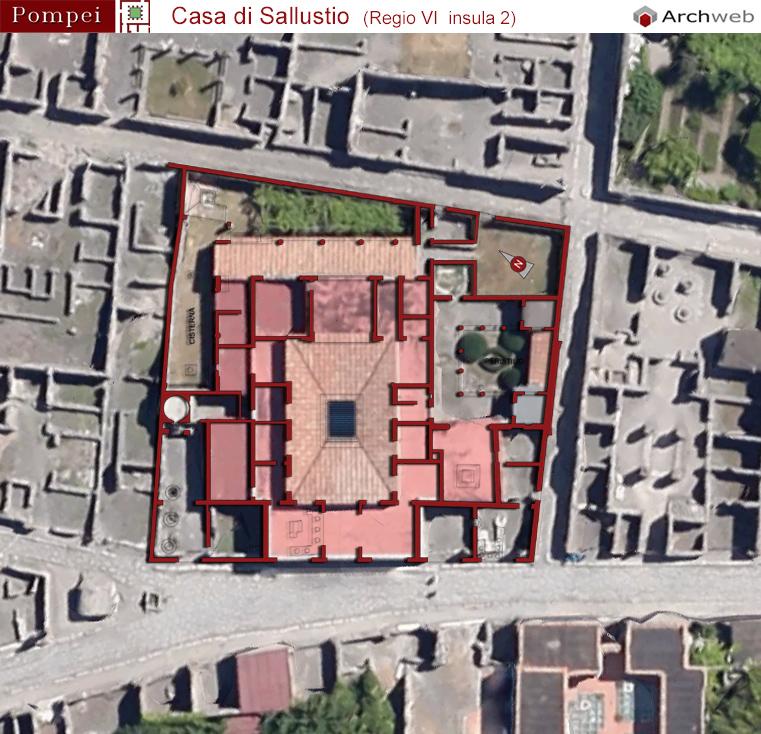 Casa di sallustio foto aeree e fotomontaggio archweb for Architettura di casa online