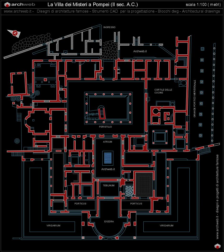 Villa dei misteri a pompei for Autocad arredi