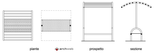 Pensiline bus dwg urban bus shelter for Arredo urbano dwg