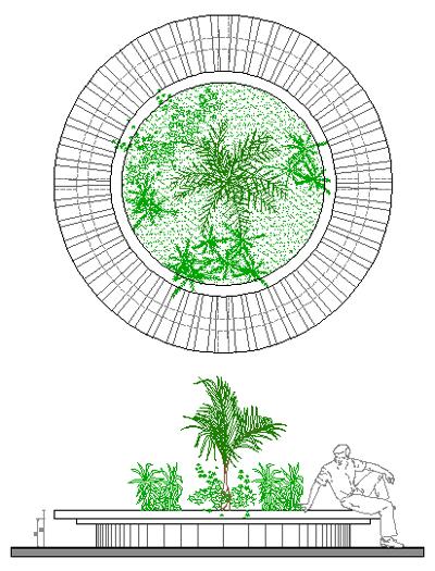 Piante Arredo Dwg : Fioriere d arredi del verde dwg