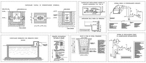 Idranti antincendio 2d dwg for Schema impianto gas dwg