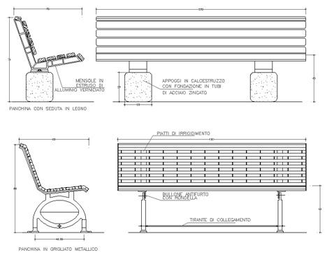 Tavoli Da Giardino Dwg.Panchine 2d