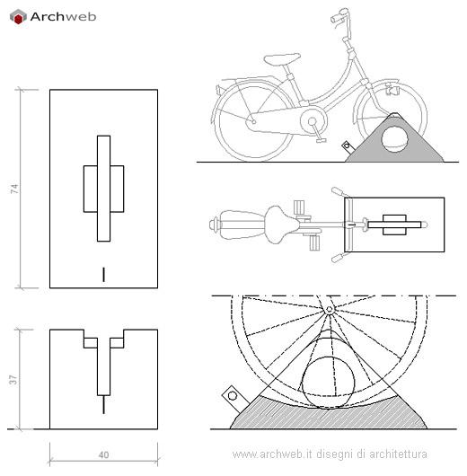 Parcheggio Biciclette Dwg