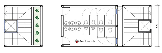Services and vertical connections for Archweb uffici