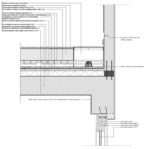 Coperture verdi dwg terrazze con prato - Particolare costruttivo finestra ...