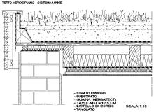 Giardini pensili dwg for Sezione tetto giardino