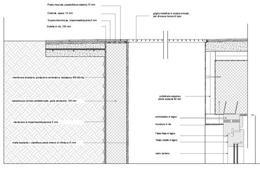 Sezioni a bocca di lupo 2 dwg details drawings - Bocca di lupo finestra ...