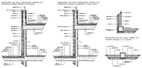 Murature in laterizio tamponature esterne for Pianta esterna