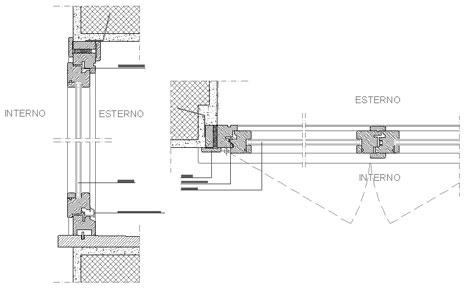 Dwg serramenti for Finestra scorrevole verticale