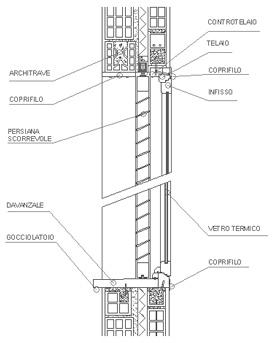 Finestre dwg finestre legno for Finestra scorrevole verticale