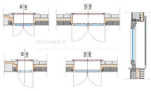 Infissi esterni con persiana persiane dwg for Porte archweb