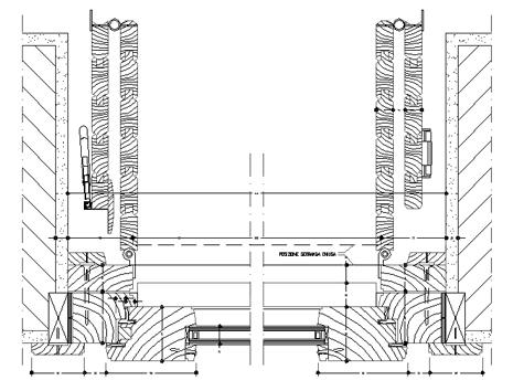 Infissi esterni con persiana persiane dwg for Porta a soffietto dwg