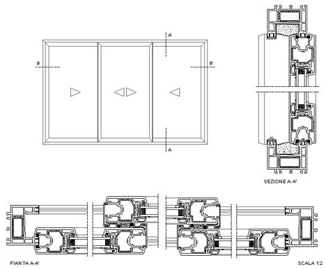 Finestre scorrevoli dwg - Un antica finestra a tre aperture ...
