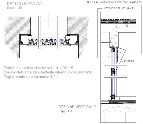 Malta per riparazioni finestra vasistas alluminio dwg for Parete attrezzata dwg