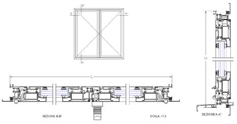 Infissi alluminio dwg terminali antivento per stufe a pellet - Porte finestre dwg ...