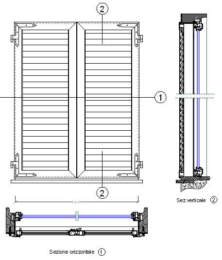 Infissi alluminio 2 for Porte 3d dwg