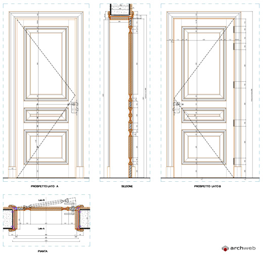 Porte finestre legno for Porte archweb
