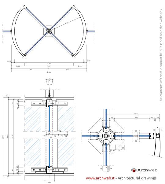 Porte girevoli dwg swing doors dwg for Porte 3d dwg