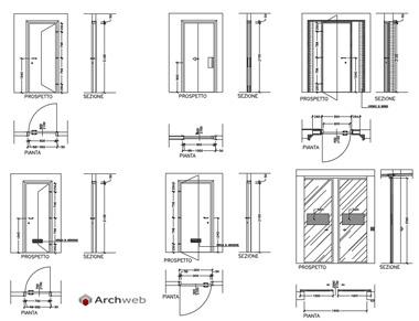 Porte interne dwg for Porte archweb