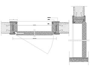 Porta scorrevole interna dwg pannelli termoisolanti - Finestre in pianta ...