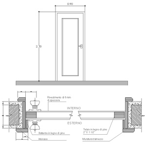 Porte interne 2 dwg - Porte finestre dwg ...