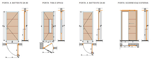 Porte interne complete for Porta rei dwg