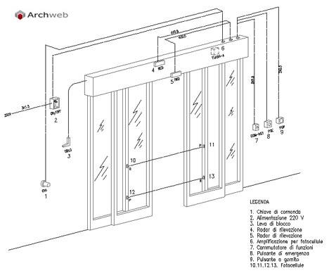 Porte scorrevoli e automatiche dwg - Meccanismo porta scorrevole ...