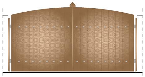 Cancelli in legno 2d dwg - gates dwg