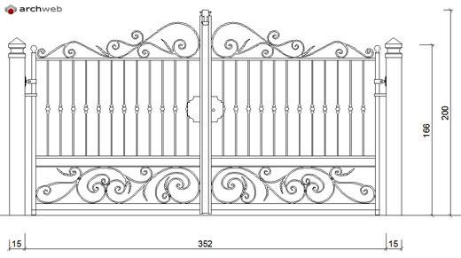 Cancelli in ferro battuto - gates dwg - 5