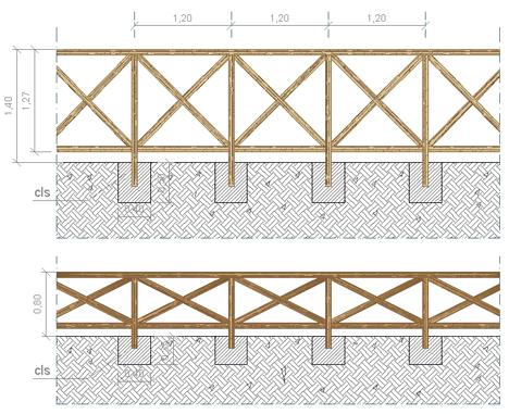 recinzioni in legno staccionate dwg