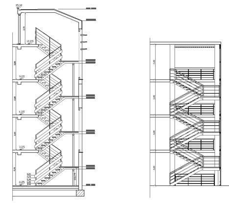 Dettaglio scale 2d in metallo for Scala a chiocciola dwg