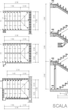 Scale in cemento armato 2d - Scale ad angolo ...