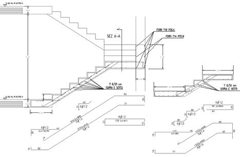 costruire una rampa di scale in cemento armato di circa 8/9 gradini ...