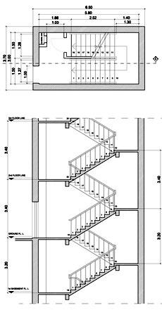 Sezione scale dwg terminali antivento per stufe a pellet - Scale elicoidali in cemento armato ...