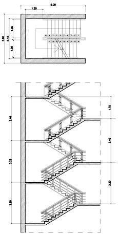 Sezioni di scala in cemento armato for Scale in pianta