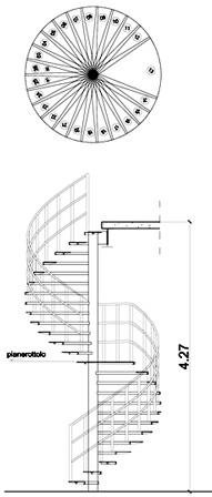 Scale circolari 2d for Scala a chiocciola dwg