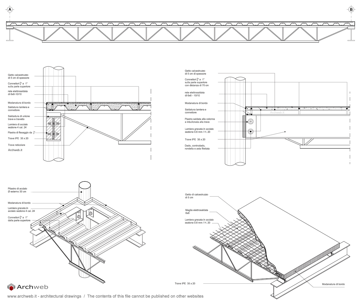 Struttura Di Un Solaio dettaglio di un solaio con struttura in acciaio