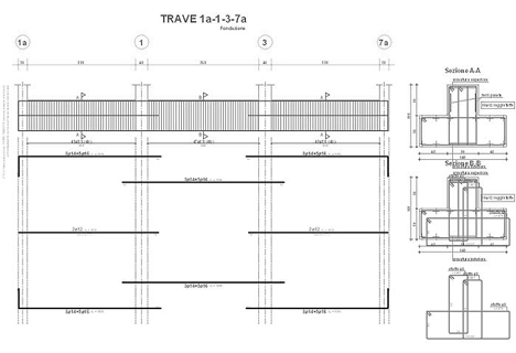 Fondazioni dwg tipologie di fondazione e disegni cad for Muretto recinzione dwg