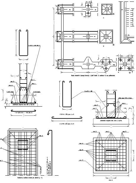fondazioni dwg tipologie di fondazione e disegni cad