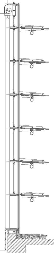 Vetrate con frangisole 2 frangisole dwg 2 for Dettaglio inquadratura vetrata