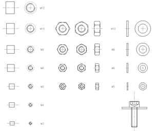 screws bolts nuts drawings