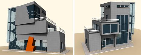 Residenziale 3d dwg models 3d housings for Modelli case 3d