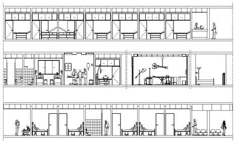 Armadietti spogliatoio dwg 3d idee per la casa for Arredi spogliatoi dwg