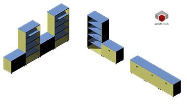 Armadiature 3d cassettiere ufficio dwg for Archweb uffici