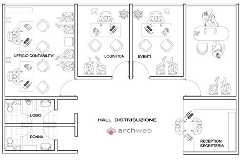 Schemi ufficio 2d for Arredi per autocad