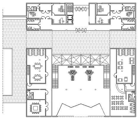Schemi ufficio blocco servizi 2 for Piani di lusso open space