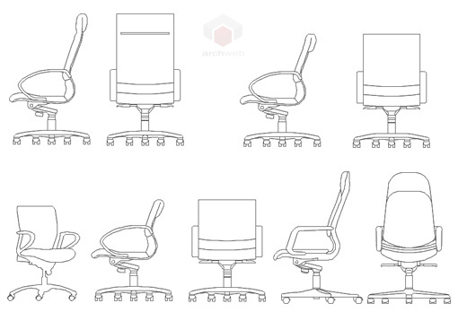 Daily Furniture Cad Block Set also Silla De Oficina Lobby En Alzado also 444 Classic Furniture Set moreover 45 Sofas besides Office chair 2d. on office chair autocad block