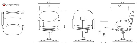 Office chairs 2d office chairs drawings for Archweb uffici